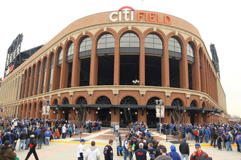 NEW YORK, NY - APRIL 08:  Fans of the New York Mets wait to enter the stadium to watch the Mets' home opener against the Washington Nationals at Citi Field on April 8, 2011 in the Flushing neighborhood of Queens in New York City.  (Photo by Al Bello/Getty