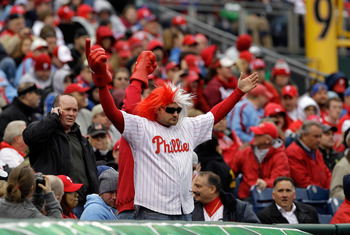 PHILADELPHIA, PA - APRIL 01: Philadelphia Phillies fans during opening day against the Houston Astros at Citizens Bank Park on April 1, 2011 in Philadelphia, Pennsylvania.  (Photo by Rob Carr/Getty Images)