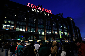 Lucas Oil Stadium, home of the Big Ten championship game in 2011.