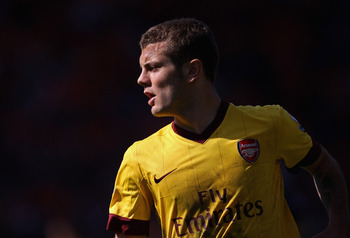BLACKPOOL, ENGLAND - APRIL 10:  Jack Wilshere of Arsenal during the Barclays Premier League match between Blackpool and Arsenal at Bloomfield Road on April 10, 2011 in Blackpool, England.  (Photo by Alex Livesey/Getty Images)