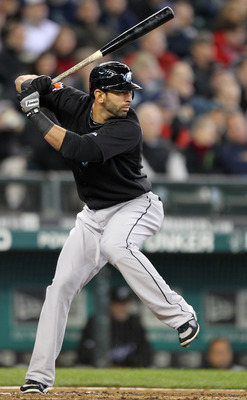 SEATTLE, WA - APRIL 13:  Jose Bautista #19 of the Toronto Blue Jays bats against the Seattle Mariners at Safeco Field on April 13, 2011 in Seattle, Washington. (Photo by Otto Greule Jr/Getty Images)