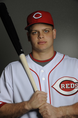 GOODYEAR, AZ - FEBRUARY 20: Devin Mesoraco #65 of the Cincinnati Reds poses during the Cincinnati Reds photo day at the Cincinnati Reds Spring Training Complex on February 20, 2011 in Goodyear, Arizona. (Photo by Rob Tringali/Getty Images)