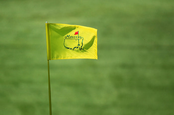 AUGUSTA, GA - APRIL 07:  A Masters flagstick is seen during the first round of the 2011 Masters Tournament at Augusta National Golf Club on April 7, 2011 in Augusta, Georgia.  (Photo by David Cannon/Getty Images)