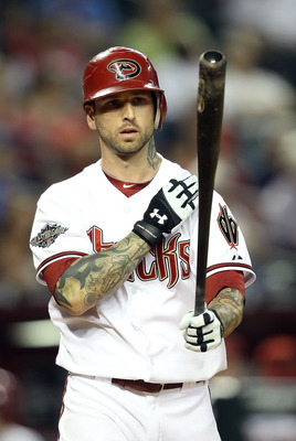 PHOENIX, AZ - APRIL 26:  Ryan Roberts #14 of the Arizona Diamondbacks steps up to the plate during the Major League Baseball game against the Philadelphia Phillies at Chase Field on April 26, 2011 in Phoenix, Arizona.  The Diamondbacks defeated the Philli