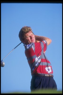 8 Nov 1994:    Nick Price of South Africa shows great form  during the PGA Grand Slam. Mandatory Credit: Gary Newkirk  /Allsport