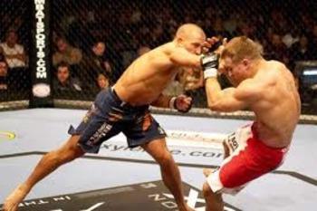 """UFC welterweight champion, Georges """"Rush"""" St-Pierre"""