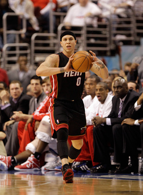 PHILADELPHIA, PA - APRIL 21: Mike Bibby #0 of the Miami Heat in action against the Philadelphia 76ers in Game Three of the Eastern Conference Quarterfinals during the 2011 NBA Playoffs at Wells Fargo Center on April 21, 2011 in Philadelphia, Pennsylvania.