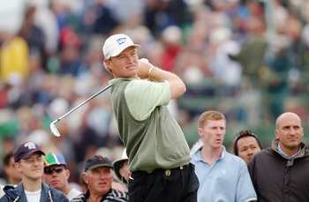 SANDWICH, ENGLAND - JULY 17:  Ernie Els of South Africa on the eighth tee during the first round of The Open Championship on July 17, 2003 at the Royal St George's course in Sandwich, England. (Photo by Harry How/Getty Images)