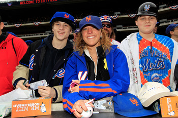 NEW YORK, NY - APRIL 08:  Fans of the New York Mets support their team against the Washington Nationals during the Mets' Home Opener at Citi Field on April 8, 2011 in the Flushing neighborhood of Queens in New York City.  (Photo by Chris Trotman/Getty Ima