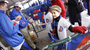 CHICAGO, IL - APRIL 01:  Fans enter the stadium prior to the Chicago Cubs playing the Pittsburgh Pirates on opening day at Wrigley Field on April 1, 2011 in Chicago, Illinois.  (Photo by Gregory Shamus/Getty Images)