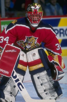 1993-1994:  Goaltender John Vanbiesbrouck of the Florida Panthers. Mandatory Credit: Robert Laberge  /Allsport
