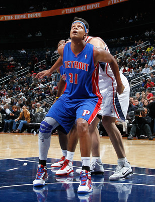 ATLANTA - NOVEMBER 03:  Charlie Villanueva #31 of the Detroit Pistons against the Atlanta Hawks at Philips Arena on November 3, 2010 in Atlanta, Georgia.  NOTE TO USER: User expressly acknowledges and agrees that, by downloading and/or using this Photogra