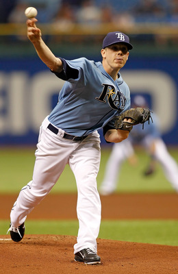 ST PETERSBURG, FL - APRIL 17:  Pitcher Jeremy Hellickson #58 of the Tampa Bay Rays pitches against the Minnesota Twins during the game at Tropicana Field on April 17, 2011 in St. Petersburg, Florida.  (Photo by J. Meric/Getty Images)