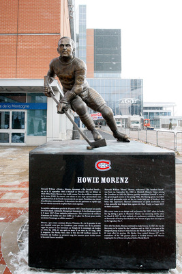MONTREAL- JANUARY 21:  A statue of Howie Morenz in Centennial Plaza outside of the Bell Centre, on January 21, 2009 in Montreal, Quebec, Canada.  (Photo by Richard Wolowicz/Getty Images)