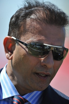 CENTURION, SOUTH AFRICA - DECEMBER 20: Commentator Ravi Shastri during day 5 of the 1st Test match between South Africa and India at SuperSport Park on December 20, 2010 in Centurion, South Africa  (Photo by Duif du Toit/Gallo Images/Getty Images)