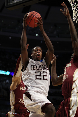 CHICAGO, IL - MARCH 18:  Khris Middleton #22 of the Texas A&amp;M Aggies shoots against the Florida State Seminoles in the first half during the second round of the 2011 NCAA men's basketball tournament at the United Center on March 18, 2011 in Chicago, Illin