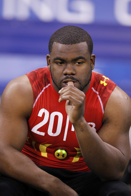 INDIANAPOLIS, IN - FEBRUARY 27: Running back Mark Ingram of Alabama looks on during the 2011 NFL Scouting Combine at Lucas Oil Stadium on February 27, 2011 in Indianapolis, Indiana. (Photo by Joe Robbins/Getty Images)