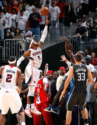 The game-winning block provided by Josh Smith.