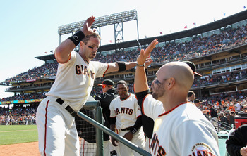 Aaron Rowand has had plenty of reasons to high-five teammates in April