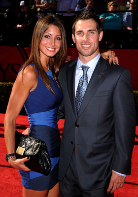 LOS ANGELES, CA - JULY 14:  US soccer player Carlos Bocanegra and guest arrive at the 2010 ESPY Awards at Nokia Theatre L.A. Live on July 14, 2010 in Los Angeles, California.  (Photo by Jason Merritt/Getty Images)