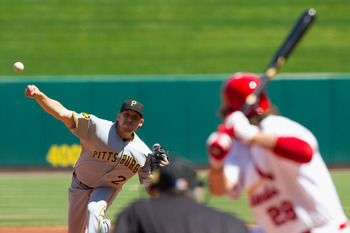 ST. LOUIS, MO - APRIL 6: Pitcher Kevin Correia #29 of the Pittsburgh Pirates throws against the St. Louis Cardinals at Busch Stadium on April 6, 2011 in St. Louis, Missouri.  (Photo by Dilip Vishwanat/Getty Images)