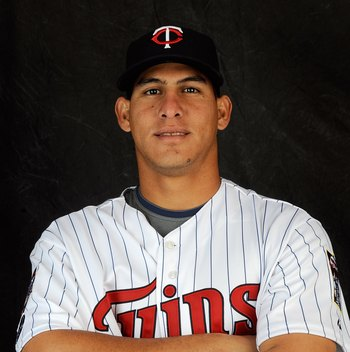 FORT MYERS, FL - FEBRUARY 23: Wilson Ramos #76 of the Minnesota Twins poses during photo day at the Twins spring training complex on February 23, 2008 in Fort Myers, Florida. (Photo by Rob Tringali/Getty Images)