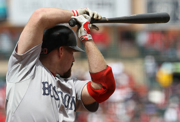 ANAHEIM, CA - APRIL 24:  Kevin Youkilis #20 of the Boston Red Sox takes his stance as he waits for a pitch against the Los Angeles Angels of Anaheim on April 24, 2011 at Angel Stadium in Anaheim, California.  The Red Sox won 7-0.  (Photo by Stephen Dunn/G