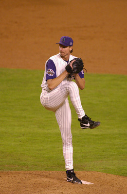 3 Nov 2001: Randy Johnson #51 of Arizona Diamondbacks delivers during game six of the World Series against the New York Yankees at Bank One Ballpark in Phoenix, Arizona. The Diamondbacks won 15-2 to force a game 7. DIGITAL IMAGE. Mandatory Credit: Matthew