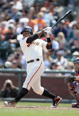 SAN FRANCISCO, CA - APRIL 24:  Miguel Tejada #10 of the San Francisco Giants in action against the Atlanta Braves at AT&T Park on April 24, 2011 in San Francisco, California.  (Photo by Ezra Shaw/Getty Images)