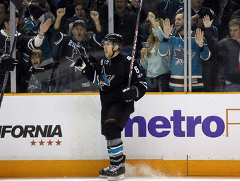 Joe Pavelski is a key playoff contributor again for San Jose.