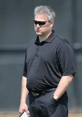 JACKSONVILLE, FL - MAY 1:  General manager Gene Smith of the Jacksonville Jaguars watches play May 1, 2009 at a team minicamp near Jacksonville Municipal Stadium in Jacksonville, Florida.  (Photo by Al Messerschmidt/Getty Images)