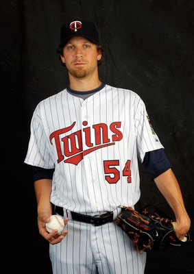 FORT MYERS, FL - FEBRUARY 23: Matt Guerrier #54 of the Minnesota Twins poses during photo day at the Twins spring training complex on February 23, 2008 in Fort Myers, Florida. (Photo by Rob Tringali/Getty Images)