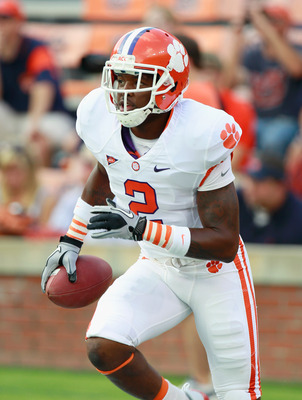AUBURN, AL - SEPTEMBER 18:  DeAndre McDaniel #2 of the Clemson Tigers against the Auburn Tigers at Jordan-Hare Stadium on September 18, 2010 in Auburn, Alabama.  (Photo by Kevin C. Cox/Getty Images)