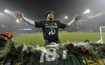 Portland mascot Timber Joey had plenty to cheer about