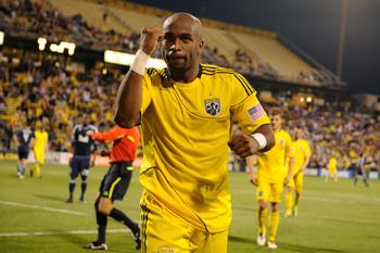 Emilio Renteria scored both goals for the Crew