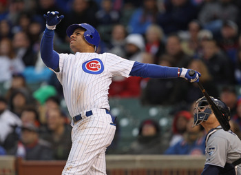 CHICAGO, IL - APRIL 20: Aramis Ramirez #16 of the Chicago Cubs takes a swing against the San Diego Padres at Wrigley Field on April 20, 2011 in Chicago, Illinois. The Cubs defeated the Padres 2-1 in 11 innings. (Photo by Jonathan Daniel/Getty Images)