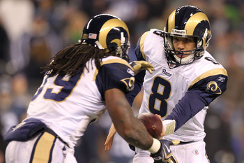 Sam Bradford turned in a record setting rookie season for the St. Louis Rams, but he needs more help around him.