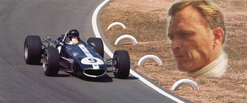 Dan Gurney - the only Amercan in F1 in his own American car.