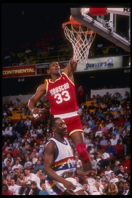 1990-1991:  Forward Otis Thorpe of the Houston Rockets goes up for two during a game. Mandatory Credit: ALLSPORT USA  /Allsport Mandatory Credit: ALLSPORT USA  /Allsport