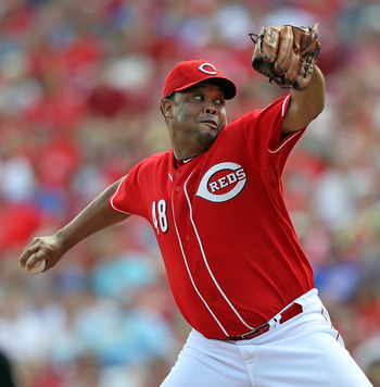 CINCINNATI - AUGUST 29:  Francisco Cordero #48  of the Cincinnati Reds throws a pitch during the 7-5 win over the Chicago Cubs at Great American Ball Park on August 29, 2010 in Cincinnati, Ohio.  (Photo by Andy Lyons/Getty Images)