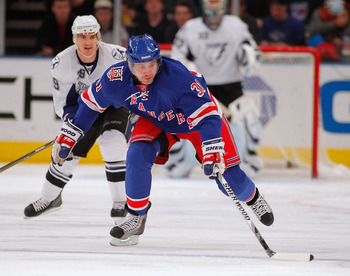 NEW YORK, NY - DECEMBER 23:  Alex Frolov #31 of the New York Rangers skates during an NHL hockey game against the Tampa Bay Lightning at Madison Square Garden on December 23, 2010 in New York City.  (Photo by Paul Bereswill/Getty Images)