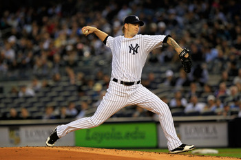 NEW YORK, NY - APRIL 25:  A.J. Burnett #34 of the New York Yankees pitches against the Chicago White Sox at Yankee Stadium on April 25, 2011 in the Bronx borough of New York City.  (Photo by Chris Trotman/Getty Images)
