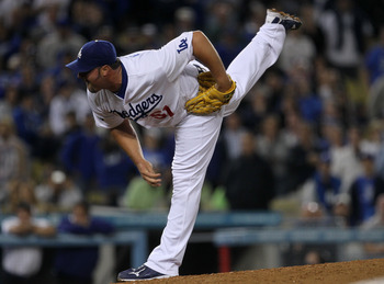 LOS ANGELES, CA - APRIL 29:  Closer Jonathan Broxton #51 of the Los Angeles Dodgers throws a pitch against the San Diego Padres on April 29, 2011 at Dodger Stadium in Los Angeles, California. The Dodgers won 3-2.  (Photo by Stephen Dunn/Getty Images)