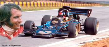 "Emerson ""emmo"" Fittipaldi in his Lotus."