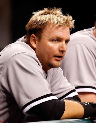 ST PETERSBURG, FL - APRIL 21:  Catcher A.J. Pierzynski #12 of the Chicago White Sox watches from the dugout against the Tampa Bay Rays during the game at Tropicana Field on April 21, 2011 in St. Petersburg, Florida.  (Photo by J. Meric/Getty Images)