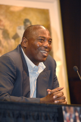 OWINGS MILLS, MD - JUNE 12:   Ozzie Newsome, Baltimore Ravens general manager during Jonathan Ogden retirement press conference at Ravens training facility on June 12, 2008 in Owings Mills, Maryland.   (Photo by Mitchell Layton/Getty Images)