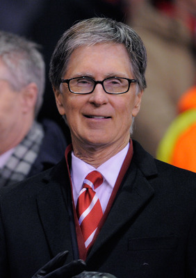 LIVERPOOL, ENGLAND - MARCH 17:  Liverpool owner John W Henry looks on ahead of the UEFA Europa League Round of 16 second leg match between Liverpool and SC Braga at Anfield on March 17, 2011 in Liverpool, England.  (Photo by Michael Regan/Getty Images)