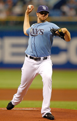 ST PETERSBURG, FL - APRIL 03:  Pitcher Wade Davis #40 of the Tampa Bay Rays pitches against the Baltimore Orioles during the game at Tropicana Field on April 3, 2011 in St. Petersburg, Florida.  (Photo by J. Meric/Getty Images)