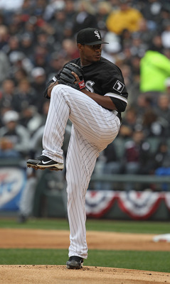CHICAGO, IL - APRIL 07: Starting pitcher Edwin Jackson #33 of the Chicago White Sox delivers the ball against the Tampa Bay Rays during the home opener at U.S. Cellular Field on April 7, 2011 in Chicago, Illinois. The White Sox defeated the Rays 5-1. (Pho