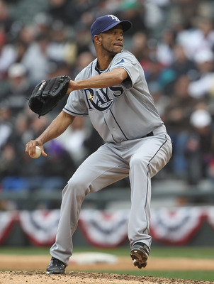 CHICAGO, IL - APRIL 07: Juan Cruz #37 of the Tampa Bay Rays pitches against the Chicago White Sox during the home opener at U.S. Cellular Field on April 7, 2011 in Chicago, Illinois. The White Sox defeated the Rays 5-1. (Photo by Jonathan Daniel/Getty Ima